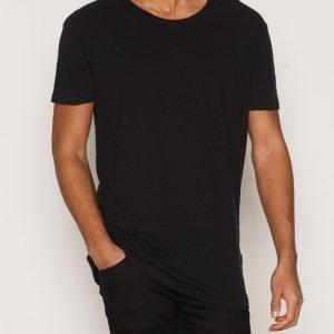 Nudie Jeans Olle Linen T-paita Black