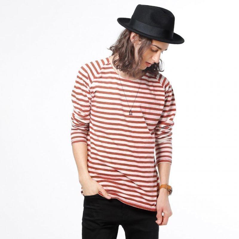 Nudie Jeans Otto Bold Stripe -longsleeve