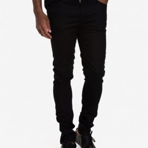 Nudie Jeans Pipe Led Clean Slate Farkut Musta