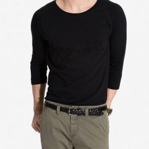 Nudie Jeans Quarter Sleeve Tee Pusero Black
