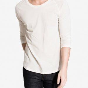 Nudie Jeans Quarter Sleeve Tee Pusero Offwhite