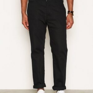Nudie Jeans Regular Anton Black Housut Musta