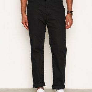 Nudie Jeans Regular Anton Black Housut Musta