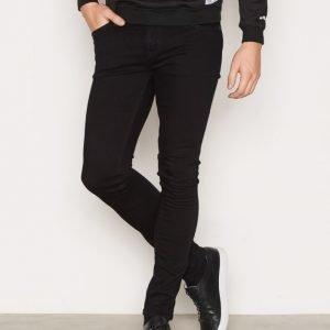 Nudie Jeans Skinny Lin Black Black Farkut Black