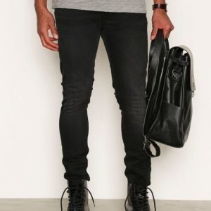 Nudie Jeans Skinny Lin Black Habit Farkut Black