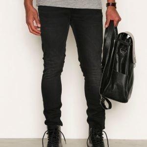 Nudie Jeans Skinny Lin Black Habit Farkut Black