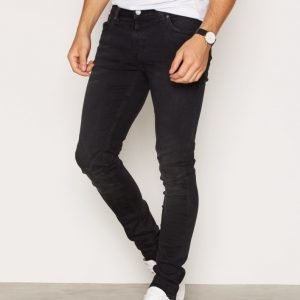 Nudie Jeans Skinny Lin Used Black Farkut Black