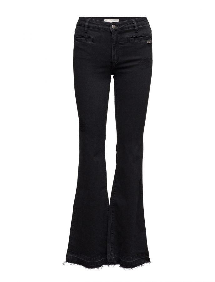 ODD MOLLY Janis Black Stretch Flare Jean leveälahkeiset farkut ... f332cd93e1
