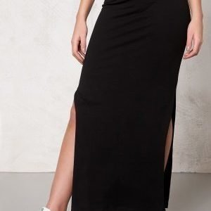 ONLY Abbie l slit skirt noos Black