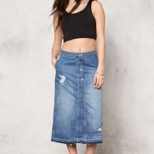 ONLY Ashton Skirt Medium Blue Denim