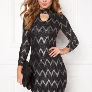 ONLY Bella Highneck L/S Dress Black
