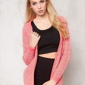 ONLY Brice l/s open cardigan Neon Pink