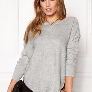 ONLY Bridget l/s Pullover Knit Light Grey Melange