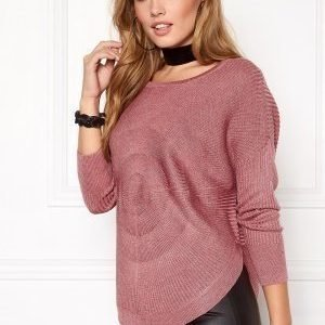 ONLY Bridget l/s Pullover Knit Mesa Rose