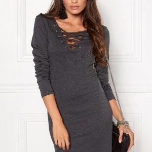 ONLY Carine L/S Front Back Dark Grey Melange