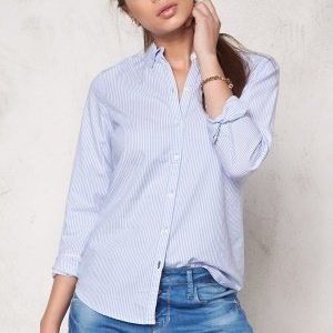 ONLY Cici L/S Oxford Shirt Blue Bell