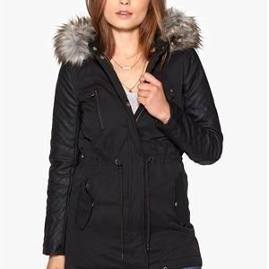 ONLY Demi Contrast Parkas Black