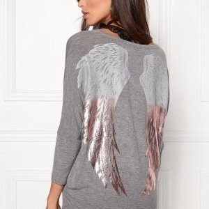 ONLY Denni Mix Foil Wings Light Grey Melange