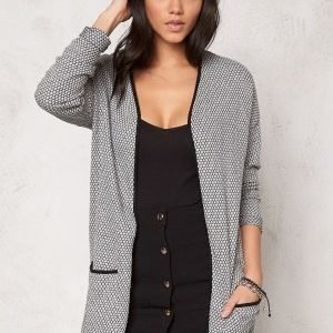 ONLY Diamond Long Cardigan Light Grey Melange