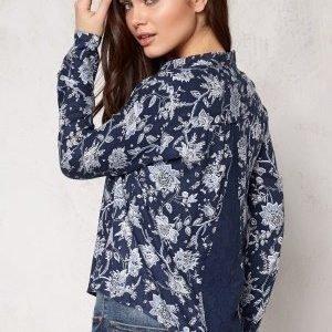 ONLY Eleonora l/s Lace Shirt Blue