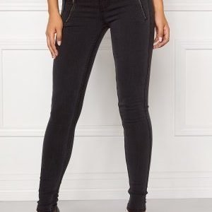 ONLY Eternal Skinny Zip Jeans Dark Grey Denim
