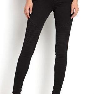 ONLY Farkut Royal Biker jeans Musta
