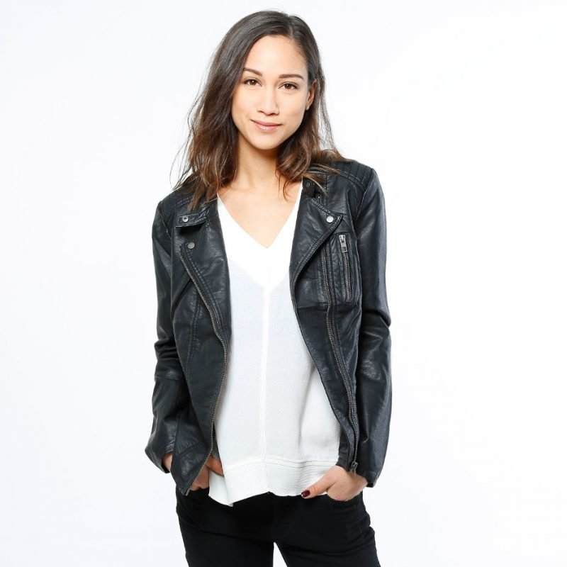 ONLY Freya Faux Leather -takki