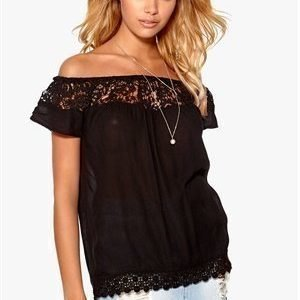 ONLY Harper off-shoulder top Black