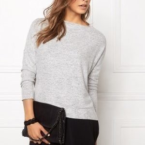 ONLY Idaho L/S Oversize Knit Light Grey Melange