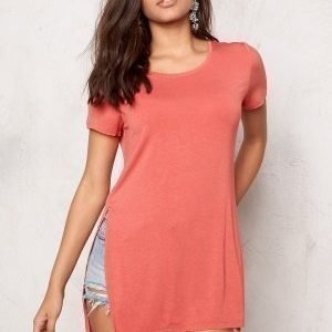 ONLY Jewel ss Long Top Faded Rose