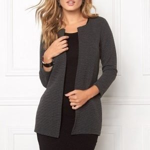 ONLY Leco 7/8 Long Cardigan Dark Grey Melange