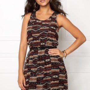 ONLY Lia Lace S/L Navajo Dress Brandy Brown