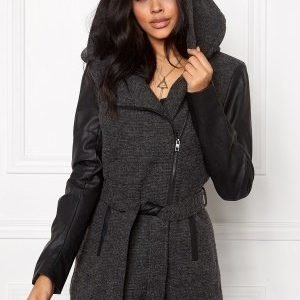 ONLY Lisford Wool Coat Dark Grey Melange