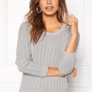 ONLY Loui L/S Pullover Light Grey Melange