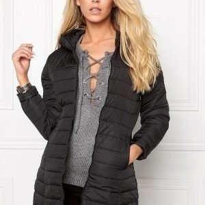 ONLY Marit Quilted Hood Jacket Black