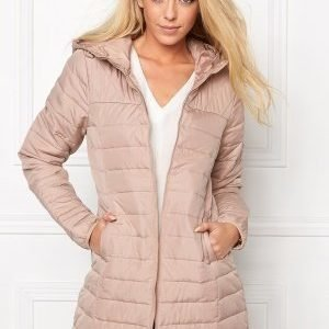 ONLY Marit Quilted Hood Jacket Warm Taupe