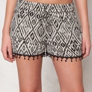 ONLY Mika Tribal Tiles Shorts Bone White