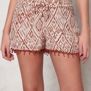 ONLY Mika Tribal Tiles Shorts Whitecap Gray