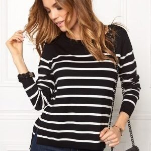 ONLY Mila Stripe Pullover Noos Black/Cloud