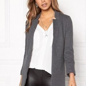 ONLY Mya Soft Blazer Jacket Dark Grey Melange