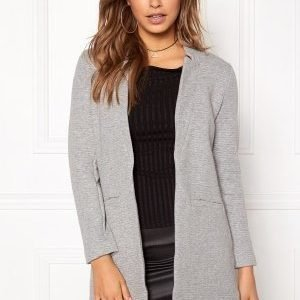 ONLY Mya Soft Blazer Jacket Light Grey Melange