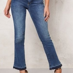 ONLY Nadia Cropped Flare Jeans Medium Blue Denim