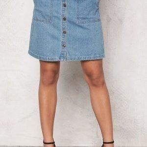 ONLY New Farrah A-Line Skirt Light Blue Denim