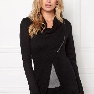 ONLY New Hayley Zip Cardigan Black