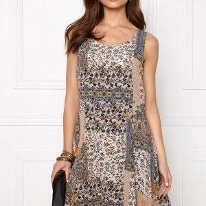 ONLY Nova Boarder Lux Dress Whisper White/Print