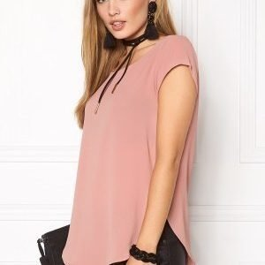 ONLY Nova Lux S/S Solid Top Ash Rose