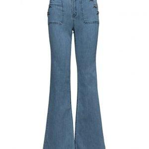ONLY Onllea Highw Dnm Flared Jeans Cre leveälahkeiset farkut