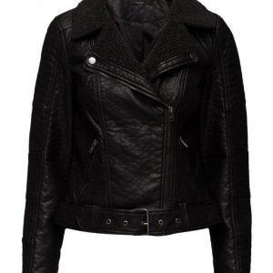 ONLY Onlthilde Bonded Faux Leather Biker Otw nahkatakki