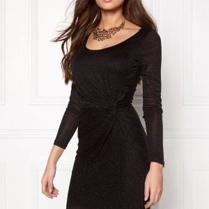 ONLY Ramona L/S Knot Dress Black 2