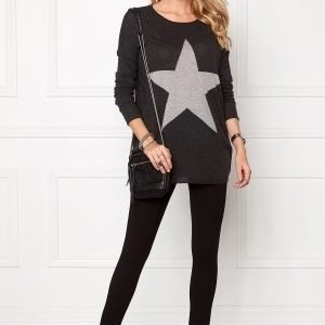 ONLY Reese l/s pullover knit Dark Grey Melange